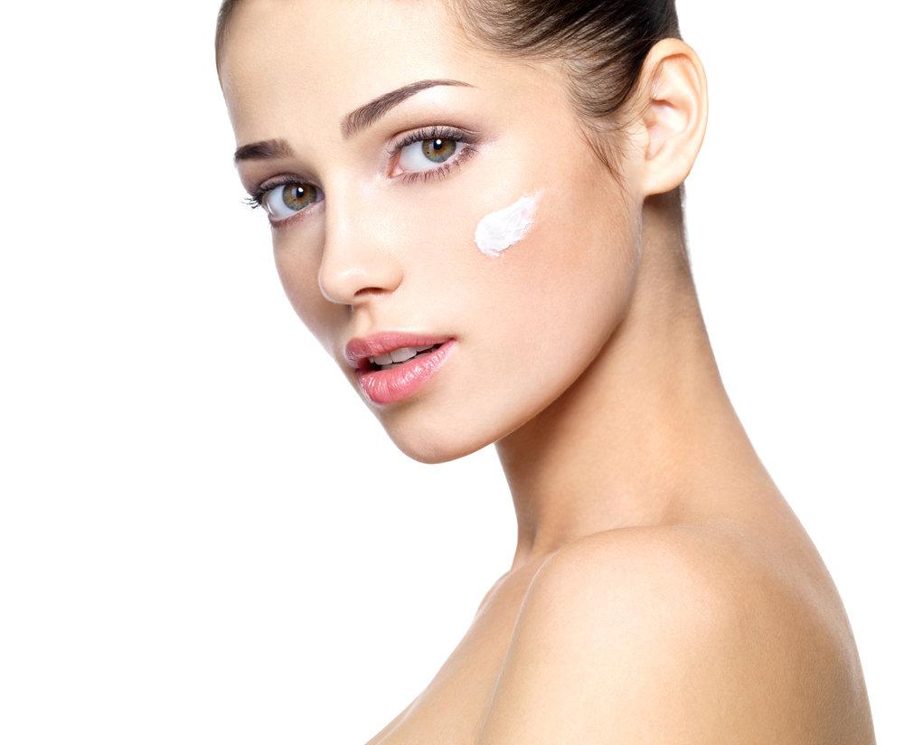 Bild Hautpflege mit Cremes