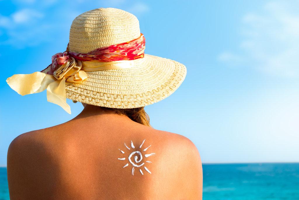 Bild Sonnenbaden Hautalterung