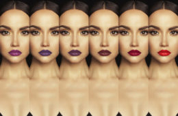 Es gibt verschiedene dunkle Lippenstiftnuancen © shutterstock